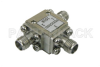 Circulator with 13 dB Isolation from 8 GHz to 18 GHz, 10 Watts and SMA Female -- PE83CR002 - Image