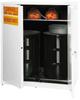 Hazardous Vertical Liquid Drum Safety Self-Close Cabinet -- CAB182-WHITE