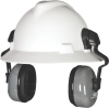 Helmet-Mounted, Passive Ear Muffs -- SoundControl SH for Full Brim Hat (NRR 25 dBA) -Image