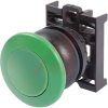 PUSHBUTTON, MUSHROOM HEAD PUSHBUTTON OPERATOR, MOMENTARY, GREEN BUTTON, BLACK BE -- 70057839