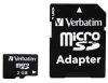 MicroSD Memory Card with SD Adapter,2 GB -- 14F880