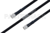 MIL-DTL-17 SMA Male to SMA Male Cable 72 Inch Length Using M17/84-RG223 Coax -- PE3M0051-72 -Image