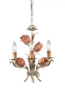 Southport Handpainted Wrought Iron Mini Chand -- 23705(Crystorama 4803-SR)