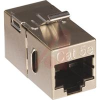 Coupler, In-Line, CAT5e, Black, Shielded, fits into 0.790 in. opening -- 70088129