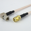 SMA Female to RA 10-32 Male Cable RG316 Coax in 72 Inch -- FMC1314315-72 -Image