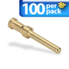 CRIMP 16AMP MALE 100/PK 14AWG GOLD- PLATED FOR 16AMP MALE INSERTS -- ZP-MC-CC-M16A-14G