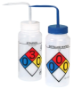 16 oz. 4 - Color Wide Mouth Safety-Labeled Wash Bottle -- 80147