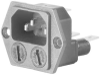 CONN, FUSED POWER ENTRY MODULE, PLUG 10A -- 84K0299 - Image