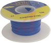 Wire; 100ft 24AWG silver plated copper;blue Kynar insulated; low strip force -- 70176431