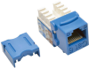 Cat6/Cat5e 110 Style Punch Down Keystone Jack - Blue, 25-Pack, TAA -- N238-025-BL - Image