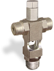"(Formerly B1629-8X-TP), Cross Small Sight Feed Valve, 1/4"" Male NPT Inlet, 1/4"" Male NPT Outlet, Tamperproof -- B1628-244B1TW -Image"
