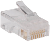 RJ45 Plugs for Round Solid / Stranded Conductor 4-pair Cat5e Cable, 100-Pack -- N030-100