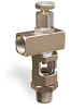 "Angle Heavy Duty Sight Feed Valve, 1/2"" Female NPT Inlet, 1/2"" Male NPT Outlet, Handwheel -- B1284-3 -Image"