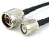 N Male to TNC Male Cable RG-58 Coax in 6 Inch and RoHS Compliant -- FMC0103058LF-06 -Image