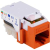 TELECOM, CAT 5E KEYSTONE JACK - ORANGE -- 70163017