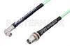 SMA Male Right Angle to TNC Female Bulkhead Low Loss Cable 36 Inch Length Using PE-P142LL Coax, RoHS -- PE3C1173-36 -Image