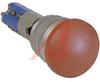 Switch, Mushroom, Splashproof And Oil Tight, SPST, Red -- 70162366