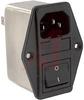EMI POWER LIN FILTER, MULTI FUNCTION MOD, W/O VOLT SELECT, W/IEC CONN, SINGL FUS -- 70133420 - Image