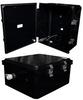 14x12x06 Polycarbonate Weatherproof Outdoor IP66 NEMA 4X Enclosure, DIN Rail Mount Black -- NBBPC141206-000DR -Image