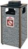 Aspen Stone Panel Hinged Top Waste Receptacle -- GPR449-BROWN