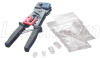 RJ45 and RJ12 Crimp Tool Kit with Plugs -- TCK68MOD