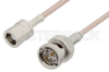 75 Ohm SMB Plug to 75 Ohm BNC Male Cable 12 Inch Length Using 75 Ohm RG179 Coax -- PE33247-12 -Image