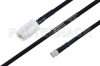 MIL-DTL-17 N Female to SMA Male Cable 72 Inch Length Using M17/84-RG223 Coax -- PE3M0045-72 -Image