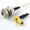 BNC Male to RA SMC Plug Cable RG316 Coax in 60 Inch -- FMC0828316-60 -Image
