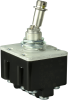 MICRO SWITCH Toggle Switches: TL Series Toggle Switch, 4 Pole Double Throw (4PDT) 2 Position (On - On), Screw Terminals, Locking Lever With Button Cap Removed (Locked Out Of Center Position) -- 4TL149-3D