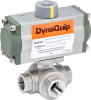Pneumatically Actuated 3-Way Stainless Steel Ball Valve -- PYSG Series