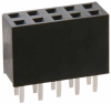 10+10 Pos. Female DIL Vertical Throughboard Conn. -- M20-7831046 - Image
