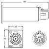 Canare BCJ-TRB-XP3M Impedance Transformer BNC to XLR Male Pa -- CANBCJTRBXP3M