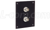 Universal Sub-Panel, 2 BNC Feed-Thru Adapters -- USP2BB