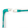 10FT GN CAT6 250MHz ANG Patch Cable S/FTP CM Down-Straight -- EVNSL212S-0010-90DS - Image