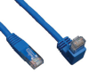 Cat6 Gigabit Molded Patch Cable (RJ45 Right Angle Down M to RJ45 M) Blue, 10-ft. -- N204-010-BL-DN