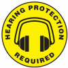 Hearing Protection Required Slip-Gard(TM) Floor Sign -- SGN837