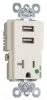Combination Switch/Receptacle -- TR-8301USBLA -- View Larger Image