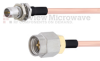 Slide-On BMA Plug Bulkhead to SMA Male Cable RG405 Type .086 Coax in 36 Inch -- FMCA1594-36 -Image
