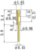 Small Size Socket Pin -- NV7034-L039-GG -Image