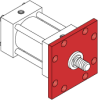 Series A Pneumatic Cylinder - Model A21 NFPA Style ME3 -- Rod Square Flange Mounting - Image
