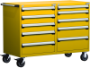 Heavy-Duty Mobile Cabinet, with Partitions -- R5DKG-3807 -- View Larger Image