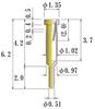 Small Size Socket Pin -- N0014-GG -Image