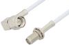 SMA Male Right Angle to SMA Female Bulkhead Cable 60 Inch Length Using RG188-DS Coax, RoHS -- PE34179LF-60 -Image