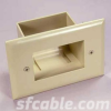 Easy Mount Recessed Low Voltage Cable Plate -- 1018-SF-53