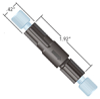 5 psi (0.3 bar) BPR Cartridge with PEEK Holder -- P-790