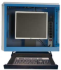 Wall-mounted Computer Cabinet with Keyboard Tray (24