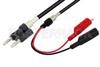 Banana Plug to Alligator Clip Cable 48 Inch Length Using RG223 Coax -- PE3164-48 -Image