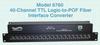 40-Channel TTL Logic-to-POF Fiber Interface Converter -- Model 6760
