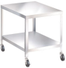 Stainless Steel Mobile Tables with Flush Shelves -- 5441100