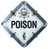 Brady Square White Chemical Warning Placards & Placard Kits Sign - TEXT: POISON - 59955 -- 754476-59955